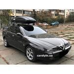 [Багажник Amos Dromader Wind Plus и бокс Terra Drive-480 (черный) на Alfa Romeo 166] - [FU AR5-1]