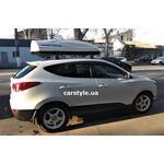 [Багажник Turtle Air2 и бокс Terra Drive-480 (белый) на Hyundai ix35] - [FU HY6-3]