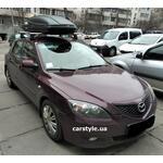 [Багажник Amos C-15 Wind Plus и бокс Terra Drive-480 (черный) на Mazda 3] - [FU MZ6-3]