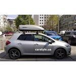 [Багажник Thule-750 SquareBar и бокс Terra Drive-440 (серый) на Toyota Auris] - [FU TY6-4]