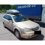 [Багажник Turtle Air1 и бокс Terra Drive-480 (серый глянец) на Chevrolet Lacetti] - [FU CH6-4]