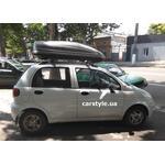 [Багажник Terra R-Fix Aero и бокс Terra Drive-440 (серый) на Daewoo Matiz] - [FU DW6-2]