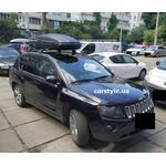 [Багажник Thule WingBar Edge 959 и бокс Terra Drive-480 (черный) на Jeep Compass] - [FU JP6-4]