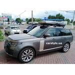 [Багажник Thule Raised 7104 WingBar Evo и бокс Thule Motion XT Alpine Titan на Land Rover Vogue] - [FU LR6-6]
