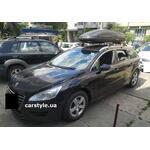 [Багажник Thule-753 Stream Black и бокс Terra Drive-480 (черный) на Peugeot 508SW] - [FU PE6-11]