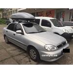 [Багажник Amos Dromader Wind Plus и бокс Terra Drive-440 (серый) на ZAZ Sens] - [FU ZAZ6-1]