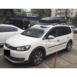 [Багажник Terra R-Fix Aero и бокс Terra Drive-500 (черный) на VW Touran] - [FU VW6-9]