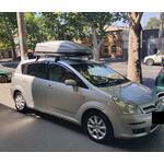 [Багажник Terra Clip Aero+ и бокс Terra Drive-480 (серый глянец) на Toyota Corolla Verso] - [FU TY6-17]