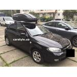 [Багажник Terra Clip Wing+ и бокс Terra Drive-440 (черный глянец) на Chevrolet Lacetti] - [FU CH6-6]