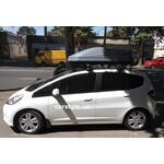 [Багажник Thule-754 WingBar Evo и бокс Thule Touring 200 (серый) на Honda Jazz] - [FU HO6-10]