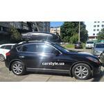 [Багажник Thule Raised 7104 WingBar и бокс Terra Drive-480 (черный) на Infiniti QX] - [FU IN6-6]