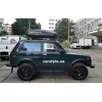 [Багажник Kenguru Uni Stl и бокс Terra Drive-420 (черный) Lada Niva] - [FU LAD6-1]