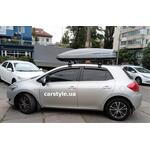 [Багажник Amos Dromader Wind Plus и бокс Terra Drive-480 (серый) на Toyota Auris] - [FU TY6-12]