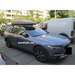 [Багажник Thule-753 WingBar и бокс Hapro Zenith 8.6 Titan на Volvo V90] - [FU VO6-6]