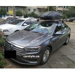 [Багажник Thule Clamp 7105 WingBar Evo и бокс Terra Drive-440 (черный) на VW Jetta] - [FU VW6-22]