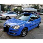 [Багажник Thule-754 Stream и бокс Terra Drive-440 (серый) на VW Polo] - [FU VW6-26]