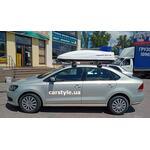 [Багажник Thule-754 Stream и бокс Terra Drive-480 (серый) на VW Polo] - [FU VW6-27]