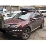 [Багажник Thule-754 WingBar и бокс Terra Drive-480 (черный) на Acura MDX] - [FU AC3-6]