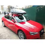 [Багажник Thule-754 WingBar, бокс Terra Drive-480 (сірий) і кріплення Thule FreeRide 532 на Audi A5] - [FU AU1]