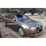 [Багажник Thule-754 Stream и бокс Hapro Carver 6.5 Black  на Audi A6] - [FU AU2-14]