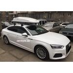 [Багажник Thule-754 WingBar Black і бокс Hapro Zenith 6.6 White на Audi A5] - [FU AU4-7]