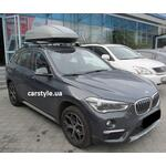 [Багажник Thule-753 Stream і бокс Terra Drive-440 (сірий) на BMW X1] - [FU BMW3-20]
