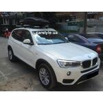 [Багажник Thule-753 WingBar і бокс Terra Drive-480 (чорний) на BMW X3] - [FU BMW2-13]