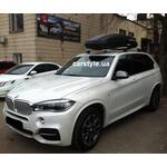 [Багажник Thule-753 Stream и бокс Terra Drive-480 (черный) на BMW X5] - [FU BMW2-7]