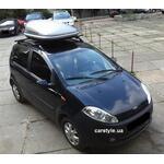 [Багажник Amos Futura Stl и бокс Terra Drive-320 (серый) на Chery Kimo] - [FU CY2-2]