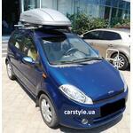 [Багажник Kenguru Rails Aero и бокс Terra Drive-440 (серый) на Chery Kimo] - [FU CY4-1]