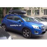 [Багажник CarStyle Rails Stream и бокс Terra Drive-480 (черный) на Chevrolet Tracker] - [FU CH1-14]
