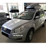 [Багажник Terra R-Fix Aero и бокс Terra Drive-440 (серый) на Geely Emgrand] - [FU GE4-2]