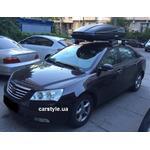 [Багажник Thule-754 Aero Black и бокс Terra Drive-480 (черный) на Geely Emgrand] - [FU GE3-3]