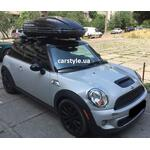 [Багажник Thule-754 WingBar Black и бокс Terra Drive-440 (черный глянец) на Mini Cooper S] - [FU MC4-4]
