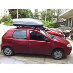 [Багажник Thule-753 Aero и бокс Terra Drive-440 (серый) на Fiat Punto] - [FU FI2-4]