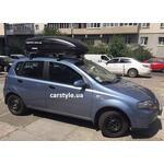 [Багажник Amos Dromader Wind Plus и бокс Terra Drive-440 (черный) на Chevrolet Aveo] - [FU CH3-16]