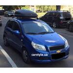 [Багажник Whispbar FlushBar и бокс Terra Drive-320 (черный) на Chevrolet Aveo] - [FU CH3-17]