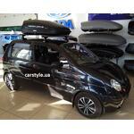 [Багажник Amos Dromader Wind і бокс Terra Drive-320 (чорний) на Daewoo Matiz] - [FU DW4-4]