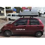 [Багажник Kenguru Camel Aero и бокс Terra Drive-440 (серый) на Daewoo Matiz] - [FU DW4-10]