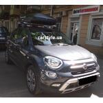 [Багажник Kenguru Camel Aero Plus и бокс Terra Drive-420 (черный) на Fiat 500] - [FU FI4-4]