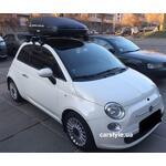 [Багажник Thule-754 SquareBar, адаптер Thule 777 і бокс Terra Drive-320 (чорний) на Fiat 500] - [FU FI4-2]