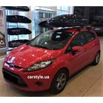 [Багажник Amos Dromader Aero Plus и бокс Terra Drive-480 (черный глянец) на Ford Fiesta] - [FU FO4-20]