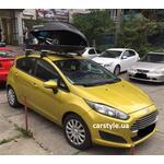[Багажник Amos Dromader Wind Plus и бокс Terra Drive-440 (черный) на Ford Fiesta] - [FU FO3-22]