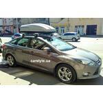 [Багажник Amos Dromader Wind Plus и бокс Terra Drive-440 (серый) на Ford Focus] - [FU FO3-9]