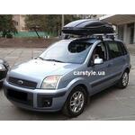 [Багажник Amos Dromader Aero Plus і бокс Terra Drive-480 (чорний) на Ford Fusion] - [FU FO2-27]