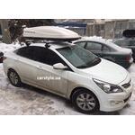 [Багажник Thule-754 Stream і бокс Terra Drive-480 (білий) на Hyundai Accent] - [FU HY5-1]