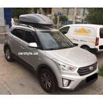 [Багажник Aguri Prestige і бокс Terra Drive-440 (сірий) на Hyundai Creta] - [FU HY3-43]