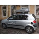 [Багажник Thule-750 SquareBar и бокс Terra Drive-320 (серый) на Hyundai Getz] - [FU HY4-27]
