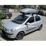 [Багажник Thule-754 SquareBar и бокс Terra Drive-440 (серый) и ограничители груза на Hyundai Getz] - [FU HY3-30]
