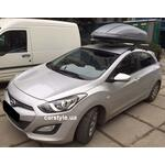 [Багажник Amos C-15 Wind Plus и бокс Terra Drive-440 (серый) на Hyundai i30] - [FU HY3-13]